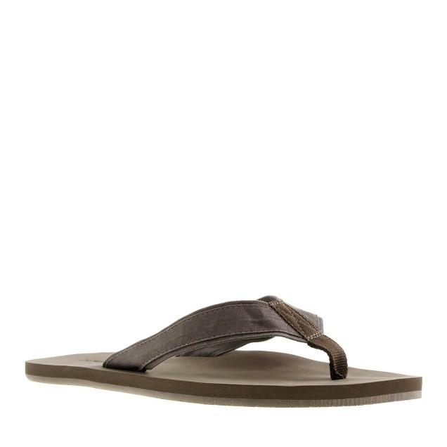 Twill flip-flops