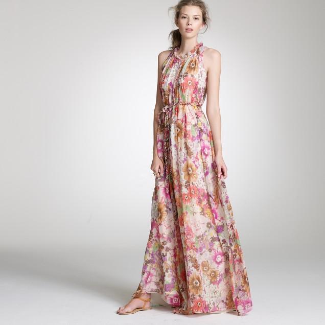 Waterfloral pastiche Delphinia gown
