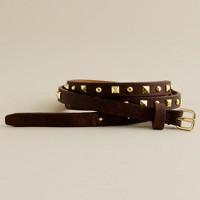 Skinny pyramid-studded belt