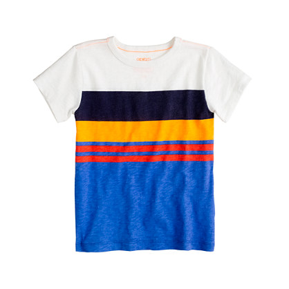 Boys' tee in faded stripe