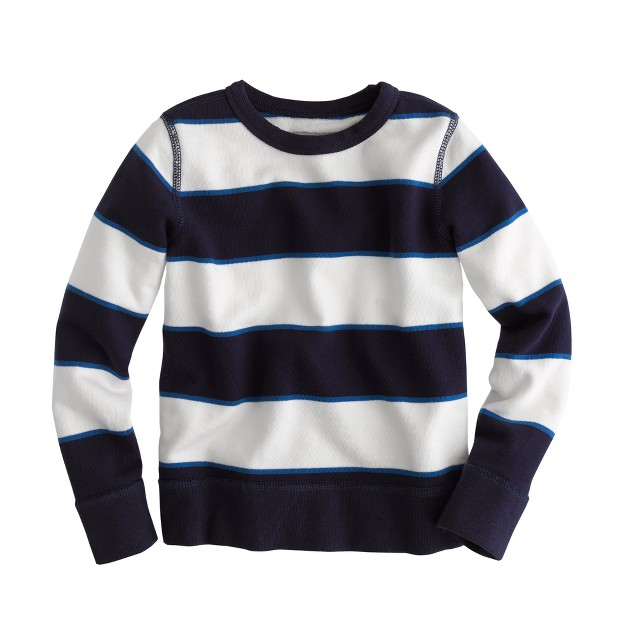 Boys' french terry crewneck in stripe