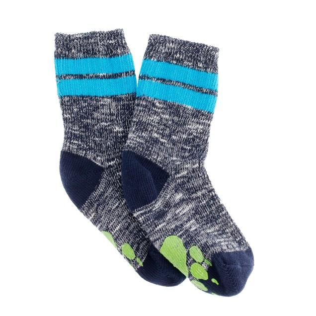 Boys' no-slip bear claw socks