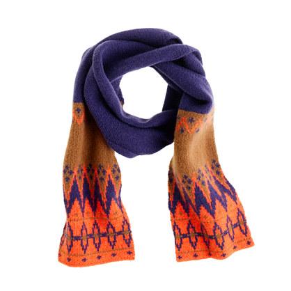 Boys' Fair Isle scarf