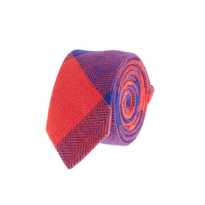 Boys' buffalo check tie