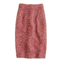 No. 2 pencil bouclé skirt