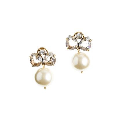 Pearl jewel box earrings