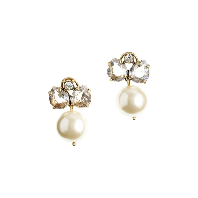 Pearl jewel box earrings