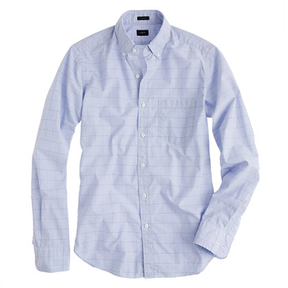 Slim Secret Wash shirt in end-on-end check