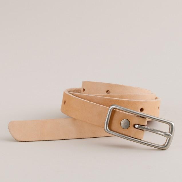 Billykirk® slim leather belt