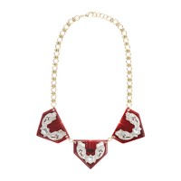 Lulu Frost for J.Crew Triple resin triangle necklace