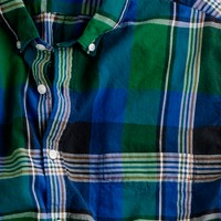 Button-down short-sleeve shirt in thistle madras