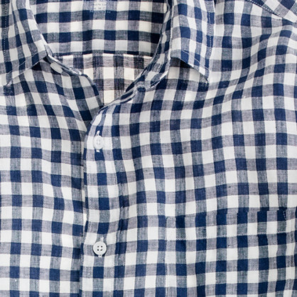 Irish linen shirt in gingham