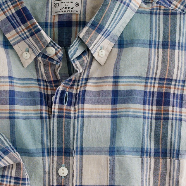 Button-down shirt in Low-Country madras