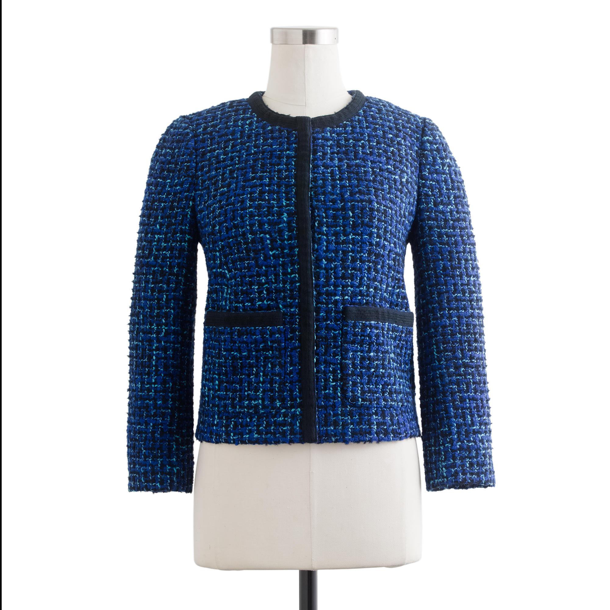 Lady jacket in blue tweed : | J.Crew