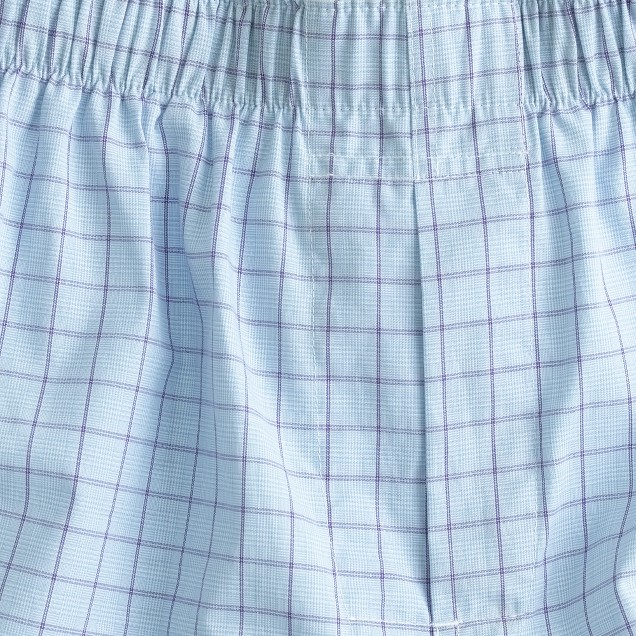 Glen plaid boxers in grape