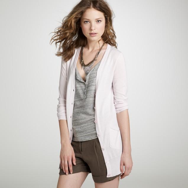 Featherweight cotton père cardigan
