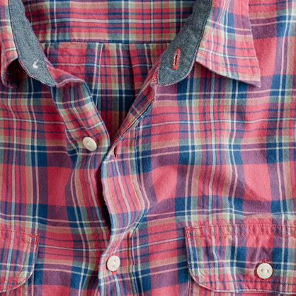 Point-collar shirt in Glen Canyon madras