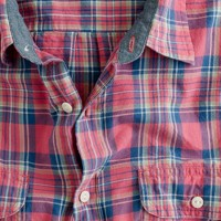 Point-collar shirt in Glen Canyon madras