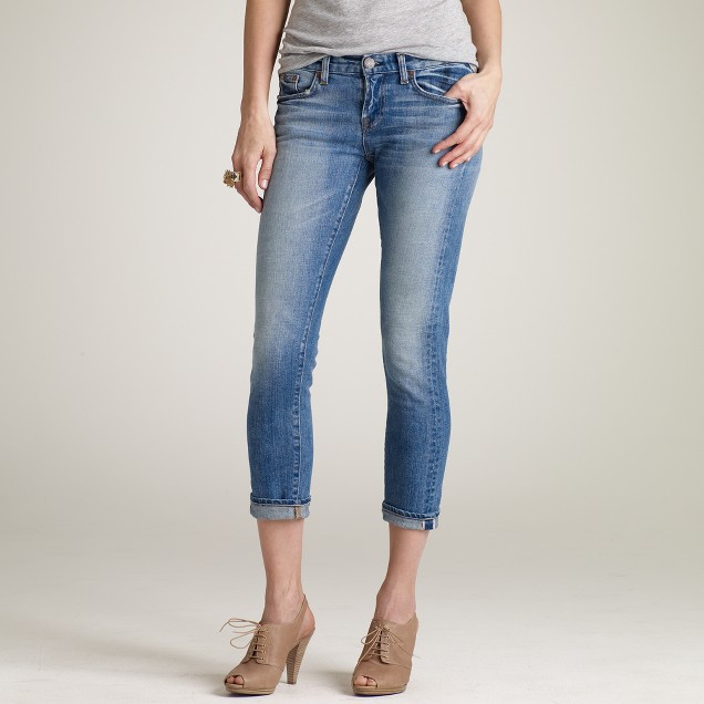 Ankle stretch toothpick selvedge jean in cherish wash