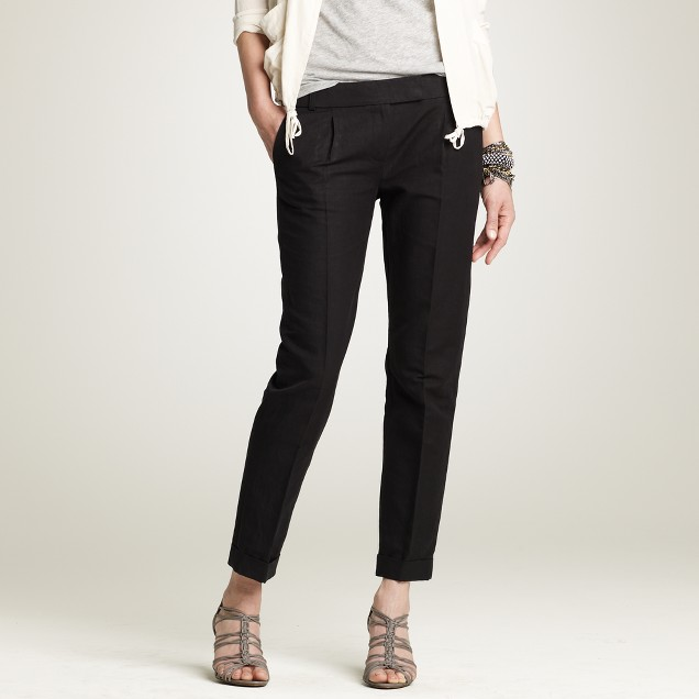 Linen-cotton Élan trouser