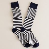 Tipped multistripe socks