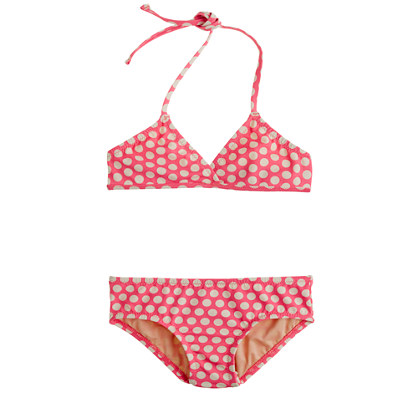 Girls' bikini set in graphic dot
