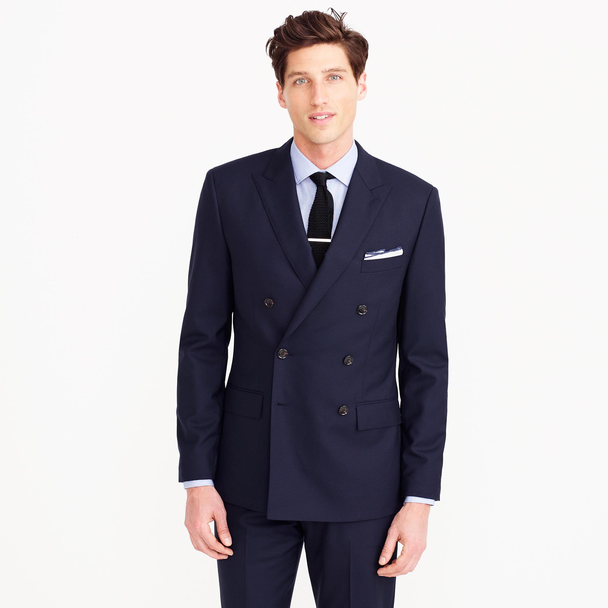 Ludlow Double Breasted Suit Jacket In Italian Wool Men S