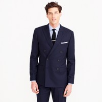 Ludlow double-breasted suit jacket in Italian wool