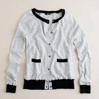 Featherweight cotton tipped pocket cardigan