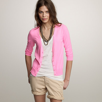 Neon cotton bling-button cardigan