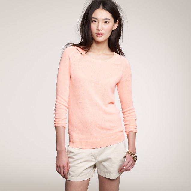 Linen neon pullover