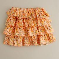 Girls' pansy flip skirt