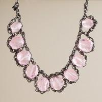 Crystal rock necklace