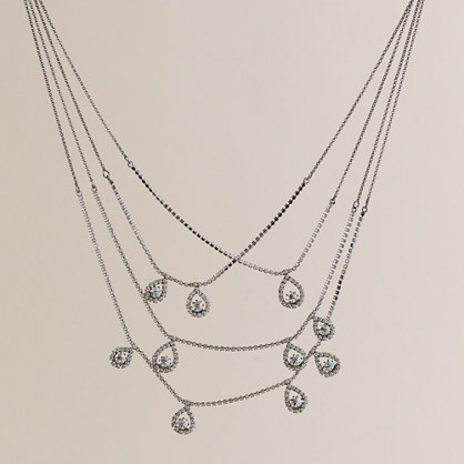 Crystal web necklace
