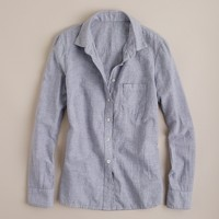 Indigo microstripe shirt