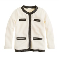 Girls' glitter-trim lady cardigan