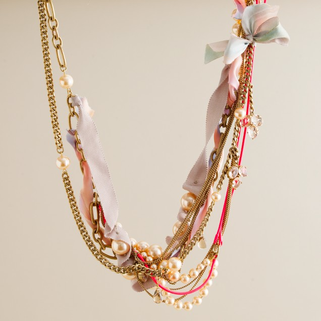Twisted neon magpie necklace