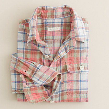 Boys' Sconset-plaid camp shirt