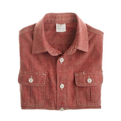 Boys' red chambray workshirt