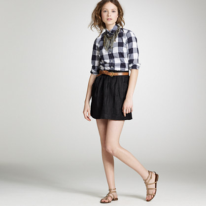 Linen charter skirt