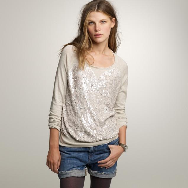 Sequin studio sweatshirt