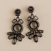 Deco cabochon chandelier earrings