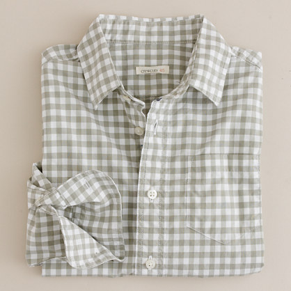 Boys' popsicle gingham shirt
