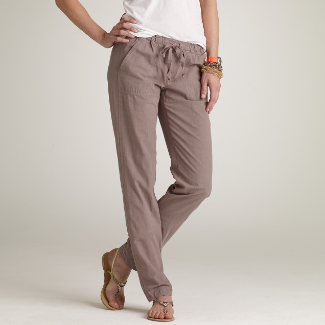 Crosshatch cotton Nora pant