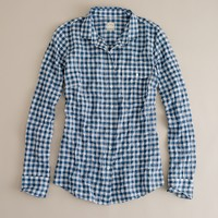 Suckered gingham shirt