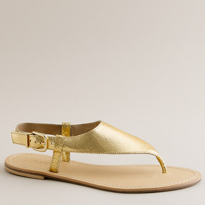 Metallic Astria sandals