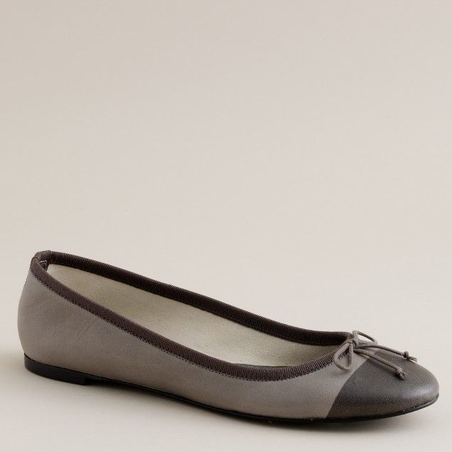 Natalia dip-dyed leather ballet flats