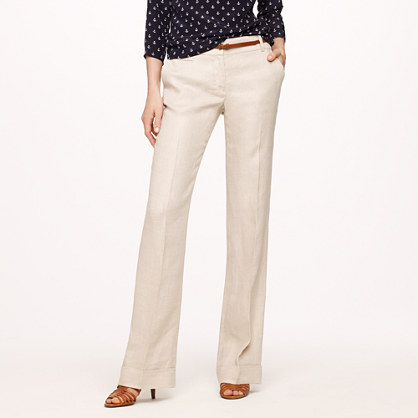Tall café trouser in linen
