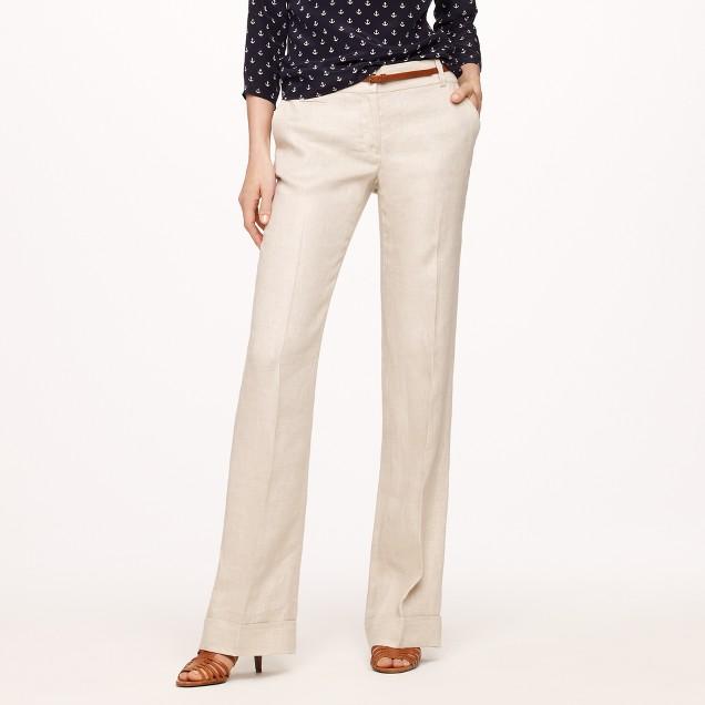 Café trouser in linen