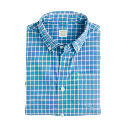 Boys' Secret Wash shirt in small check
